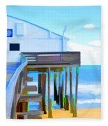 Kitty Hawk Pier 2 Fleece Blanket
