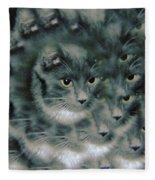 Kitty Portrait  Fleece Blanket