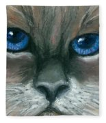 Kitty Starry Eyes Fleece Blanket