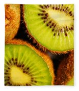 Kiwi Fruit Fleece Blanket