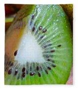 Kiwi Seed Display Fleece Blanket