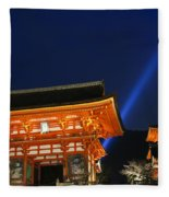 Kiyomizu-dera Main Gate Fleece Blanket