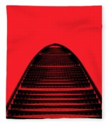 Kk100 Shenzhen Skyscraper Art Red Fleece Blanket
