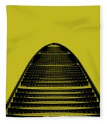 Kk100 Shenzhen Skyscraper Art Yellow Fleece Blanket