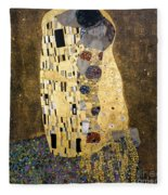 Klimt: The Kiss, 1907-08 Fleece Blanket
