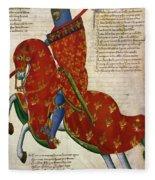 Knight, 14th Century Fleece Blanket