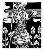 Knight Of Arthur, Preparing To Go Into Battle Fleece Blanket