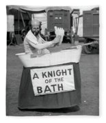 Knight Of The Bath Fleece Blanket