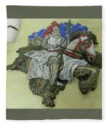 Knight Of Wands Fleece Blanket