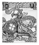 Knights: English, 1527 Fleece Blanket