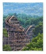 Knobels Wooden Roller Coaster  Fleece Blanket