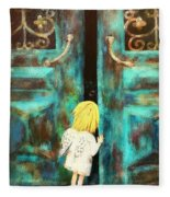 Knocking On Heaven's Door Fleece Blanket