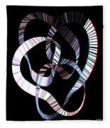 Knotplot 2 - Use Red-cyan 3d Glasses Fleece Blanket