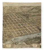 Knoxville Tennessee 1871 Fleece Blanket