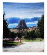 Koa Devils Tower Wyoming Fleece Blanket