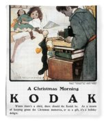 Kodak Advertisement, 1904 Fleece Blanket
