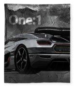 Koenigsegg One-1 Fleece Blanket