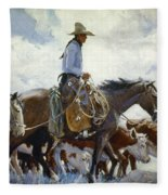 Koerner: Cowboy, 1920 Fleece Blanket