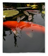 Koi Fish 4 Fleece Blanket