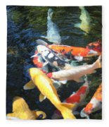 Koi Fish 2 Fleece Blanket