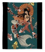 Koi Mermaid 2/4 Fleece Blanket