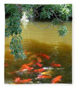 Koi Party Fleece Blanket