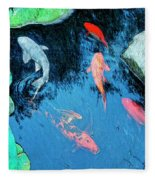 Koi Pond 1 Fleece Blanket