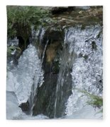 Koi Pond Waterfall Fleece Blanket