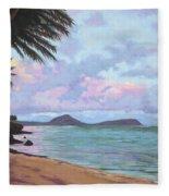 Koko Palms Fleece Blanket