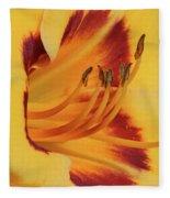 Kokomo Sunset 05 - Daylily Fleece Blanket