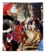 Komondor Art Canvas Print - The Carnival Dance Fleece Blanket