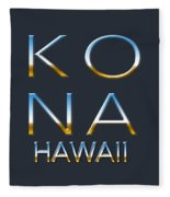 Kona Hawaii Fleece Blanket
