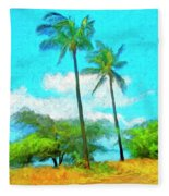 Kona Palms Fleece Blanket