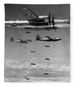 Korean War: B-29 Bombers Fleece Blanket