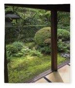 Koto-in Zen Temple Side Garden - Kyoto Japan Fleece Blanket