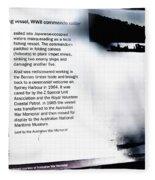 Mv Krait Historical Information Fleece Blanket