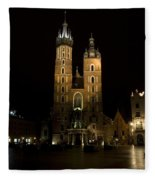 Krakow Saint Marys Basilica Fleece Blanket