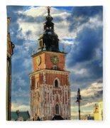 Krakow Town Hall Fleece Blanket