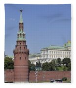 Kremlin Wall Panorama Fleece Blanket