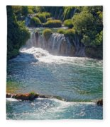 Krka National Park Waterfalls 5 Fleece Blanket