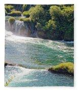 Krka National Park Waterfalls 6 Fleece Blanket