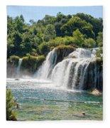 Krka National Park Waterfalls 9 Fleece Blanket