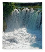 Krka National Park Waterfalls Fleece Blanket