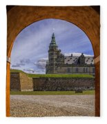 Kronborg Castle Through The Archway Fleece Blanket