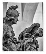 Kuks Statues - Czechia Fleece Blanket