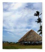 Kukulu Hale Kahului Maui Hawaii Panorama Fleece Blanket