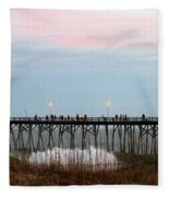 Kure Beach Pier Fleece Blanket