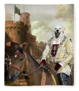 Kuvasz Art Canvas Print - The Enchanted Forest Fleece Blanket