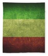 Kuwait Distressed Flag Dehner Fleece Blanket