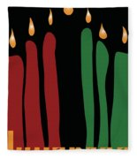 Kwanzaa Card Fleece Blanket